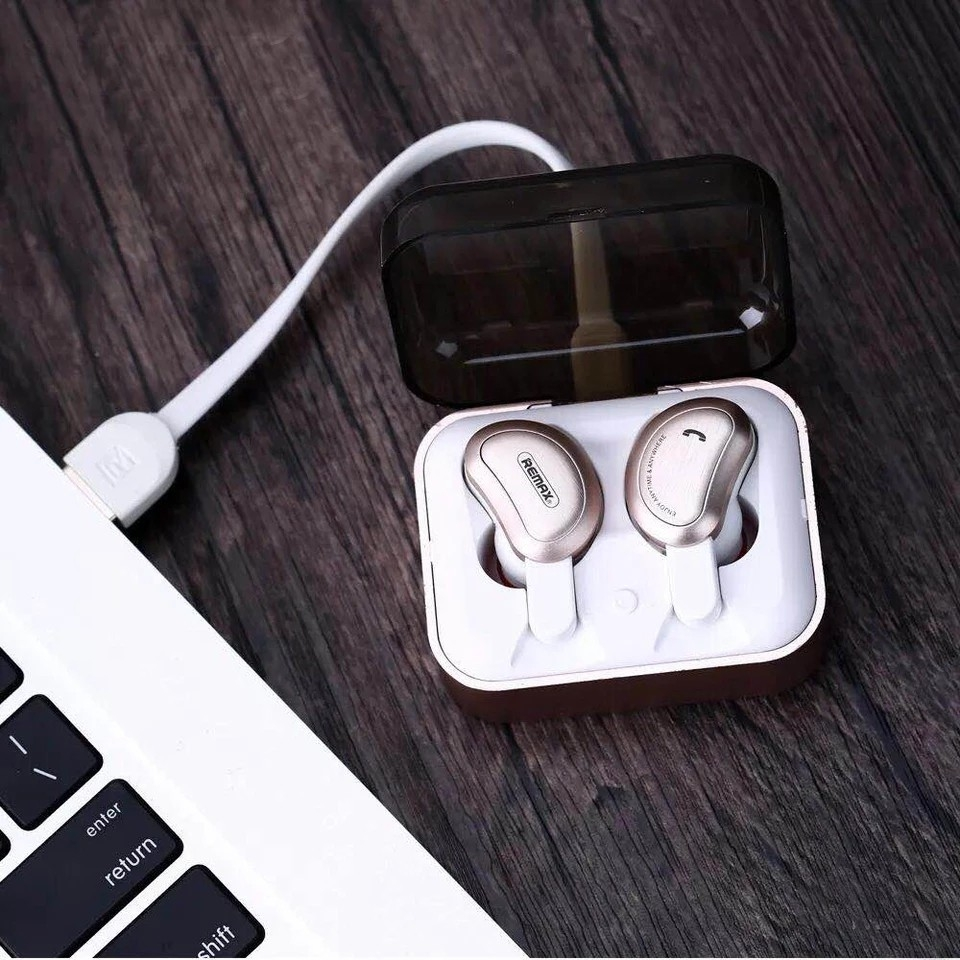 Remax True Wireless Bluetooth Earphone TWS-1  TWS-1-GOLD   61f27504b845f
