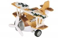 Same Toy Літак металевий інерційний Aircraft зі світлом і звуком (коричневий)