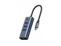 Baseus Type-C to USB3.0*3+RJ45, grey