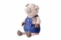 Same Toy Свинка в джинсовому комбінезоні (45 см)