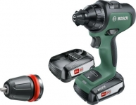 Bosch AdvancedDrill 18, бесщёточный, 18В, 2х2.5Ач, ЗУ, кейс