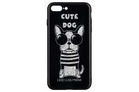 WK WPC-087 для iPhone 7/8 Plus [Cute Dog Black (681920360735)]