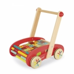 Janod Іграшка-штовхач Візок з кубиками (30 ел.)