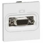 Legrand MOSAIC розетка видео HD15 (15pin) для аналоговых видеосигналов VGA, XGA, VESA (2 мод.) белый
