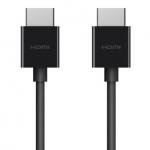 Belkin HDMI 2.1 (AM/AM) 4K HDR, Ultra High Speed HDMI w/Ethernet, 2м, Black