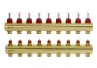 Danfoss Коллектор FHF 9+9 с ротаметрами