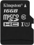 Kingston microSD C10 UHS-I Canvas Select [SDCS/16GBSP]