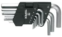 Topex 35D955 Ключi шестиграннi HEX 1.5-10 мм, набiр 9 шт.*1 уп.
