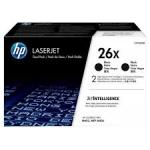 HP 26X 2-pack High Yield Black Original LaserJet Toner Cartridges