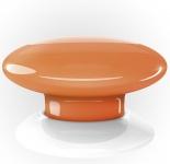 Fibaro Розумна кнопка The Button, Z-Wave, 3V ER14250, помаранчева