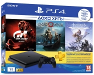 PlayStation PlayStation 4 1ТВ в комплекті з 3 іграми і підпискою PS Plus
