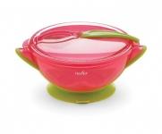 Nuvita Набір для годування дорожній 6м+ (рожевий)