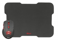 Trust Gaming mouse with Mouse pad BLACK