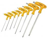 Topex 35D967 Набiр ключiв шестигранних HEX з Т-подiбною ручкою, 9 шт.
