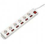 Hama Мережевий фільтр з окремими вимикачами кожної розетки [00137239]