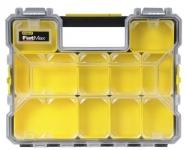 Stanley Ящик-органайзер пластмассовый влагозащитный с металл. замками (44.6 x 7.4 x 35.7)