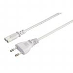 HAMA Універсальний комп'ютерний кабель живлення, Euro / M - C7 / F, 2-pin [5 м, білий]