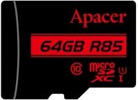 Apacer microSDXC/SDHC UHS-I Class 10 [AP64GMCSX10U5-R]