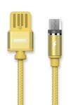 Remax Gravity series Magnetic cable MicroUSB Data/Charge [RC-095M-GOLD]