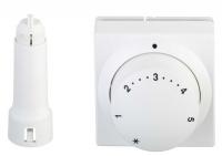 Danfoss Терморегулятор 5065, підключення RA, датчик, регулювання 8-28 ° C (білий)