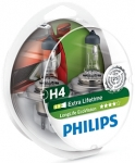 Philips H4 LongLife EcoVision, 2шт/блістер