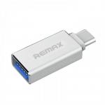 Remax OTG USB to Type C, silver