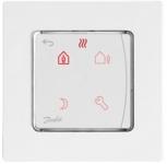 Danfoss Терморегулятор Icon Programm, електронний, сенсорний, програмований, 230V, On-wall, білий