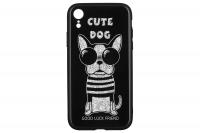 WK WPC-087 для iPhone XR [Cute Dog Black (681920360759)]