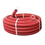 DKC Труба червона гнучка двостінна д.90 / 77мм., З протяжкою для зонда і муфтою, бухт.50м