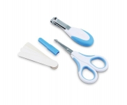 Nuvita Набір по догляду за дитиною (0м +, синій, безпечні ножиці з акс.)