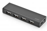Ednet 4 порт, USB 2.0, активный с БП