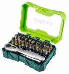 Verto Набор насадок, 32 шт. + ключ трещоточный для насадок