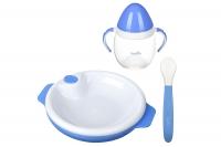 Nuvita Набір для годування 6м+ 3 предмети (блакитний)