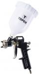 Topex 75M201 Краскопульт пневматический, верх бачок 0.6 л., сопло 1,5 мм, 4 бар, 75 - 230 л/мин., двойная регулировка, CE