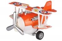 Same Toy Літак металевий інерційний Aircraft зі світлом і звуком (помаранчевий)