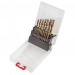 Verto Свердло по металу HSS-G, 1.0 - 10.0 мм, набір 19 шт.