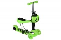 Same Toy Трьохколісний самокат-біговел з сидінням та корзинкою (зелений)