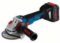 Bosch Professional GWS 18V-10 C аккумуляторная, 125мм, 18В, 2x5Ah, 2.8кг, L-boxx