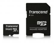 Transcend microSDXC/SDHC Class 10 UHS-I 300x (Premium) [TS64GUSDXC10]