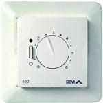 Danfoss Терморегулятор DEVIreg 530, (+ 5+ 45С), механічний, датчик на проводі 3м, 85 х 85мм, макс. 15A, білий