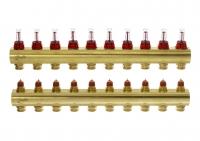 Danfoss Колектор FHF 10+10 з ротаметрами
