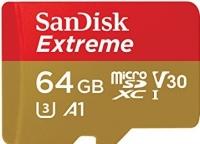 SanDisk Extreme microSD V30 A1 UHS-I U3 [SDSQXAF-064G-GN6MA]