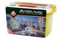 MagPlayer Конструктор магнітний набір бокс 121 ел. (MPT2-121)