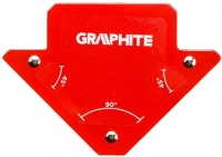 Verto Зварювальний кутник магнітний GRAPHITE 56H901, 82 x 120 x 13 мм, кут 45 або 90 град., сила 11.4 кг