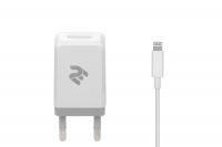 2E Набір Мережевий ЗП USB Wall Charger USB: DC5V / 2.1A + кабель [2E-WC1USB2.1A-CL]