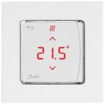 Danfoss Терморегулятор Icon Display, електронний, сенсорний, програмований, 230V, On-wall, білий