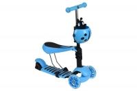 Same Toy Трьохколісний самокат-біговел з сидінням та корзинкою (блакитний)