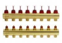 Danfoss Колектор FHF 8+8 з ротаметрами