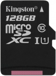 Kingston microSD C10 UHS-I Canvas Select [SDCS/128GBSP]