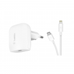 Belkin Home Charger (18W) Power Delivery Port USB-C - Lightning 1.2m, white